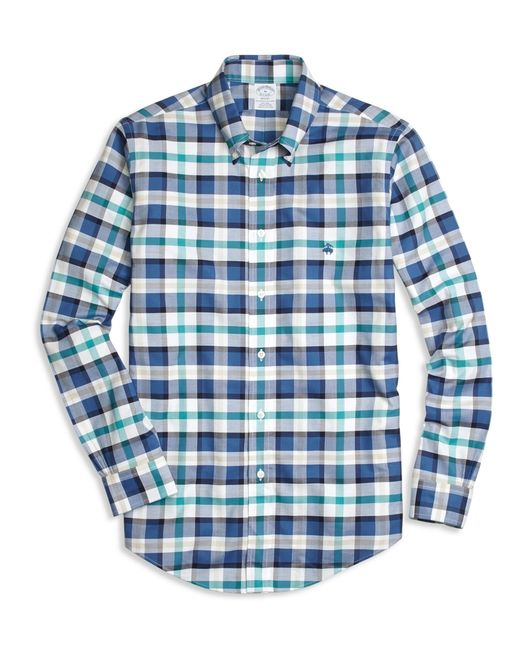 Brooks Brothers | Blue Non-iron Regent Fit Bold Plaid Sport Shirt for Men | Lyst