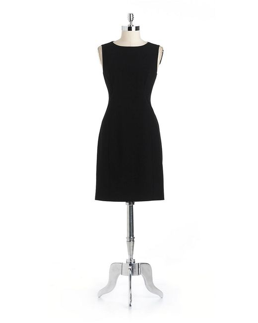 T Tahari | Black Cali Sheath Dress | Lyst