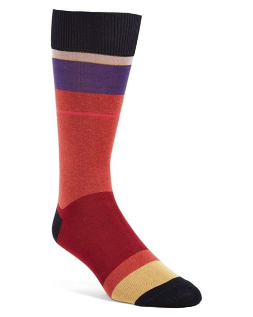 Paul Smith | Red Colorblock Socks for Men | Lyst