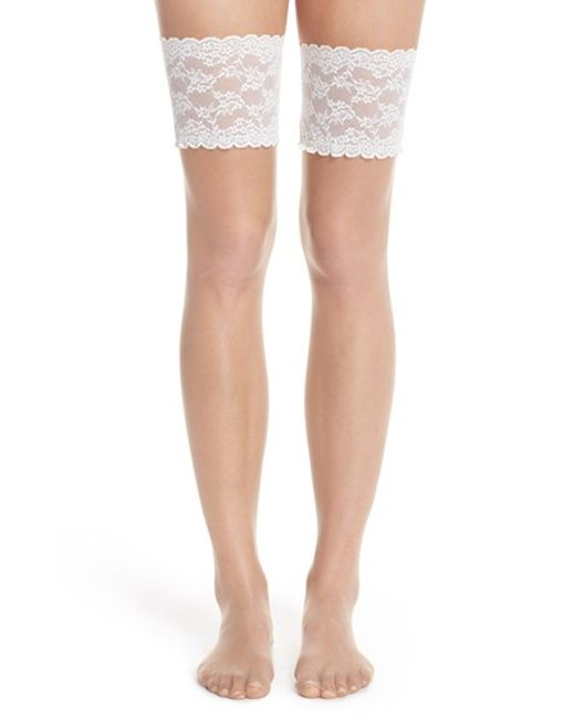 how to wear lace thigh high stockings