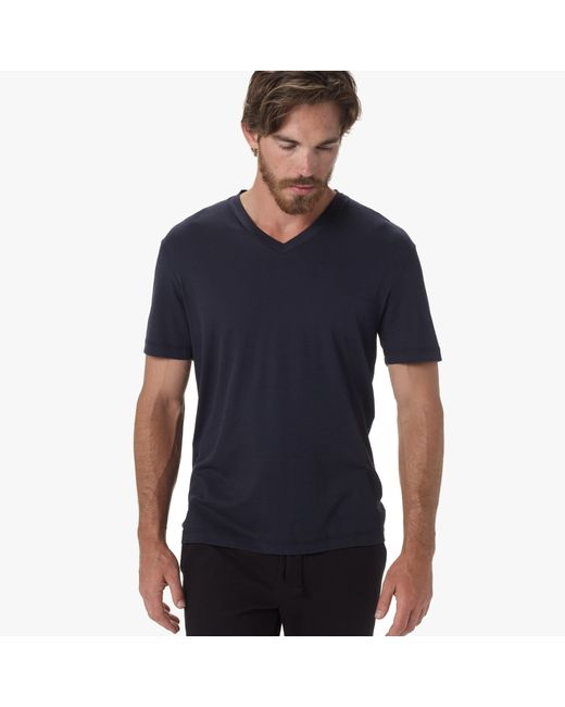James Perse | Black Clean Interlock V-neck for Men | Lyst