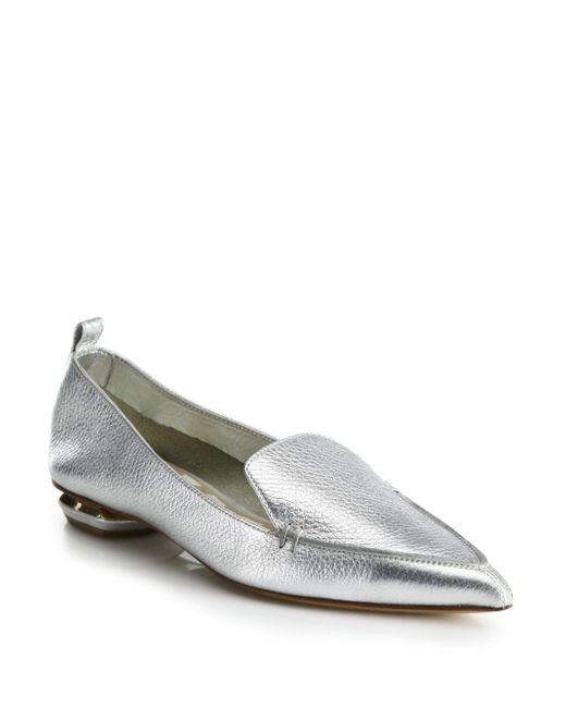 Nicholas Kirkwood | Silver Beya Botalatto Leather Loafers | Lyst