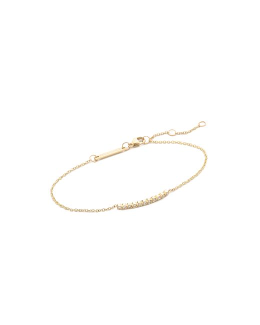 Zoe Chicco | Metallic Tiny Bezel Bar Bracelet | Lyst