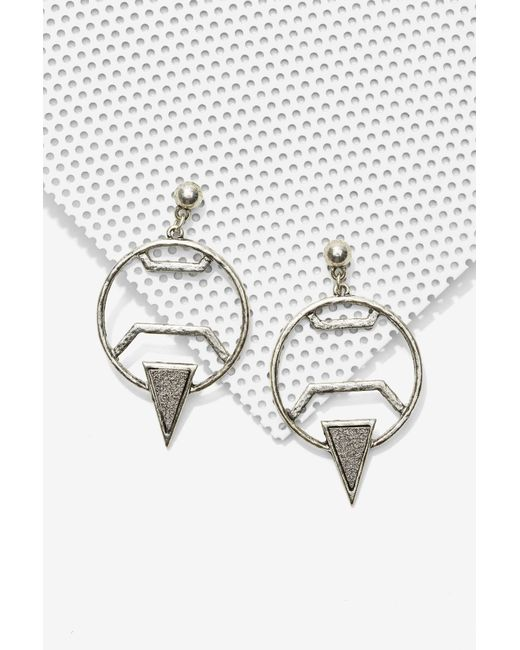 Nasty Gal | Metallic Piece Of The Pyrite Earrings | Lyst