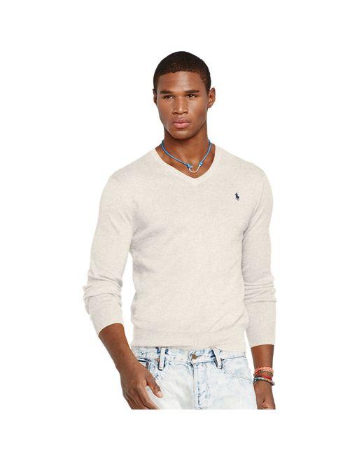 Polo Ralph Lauren | Natural Slim-fit Pima Cotton Sweater for Men | Lyst