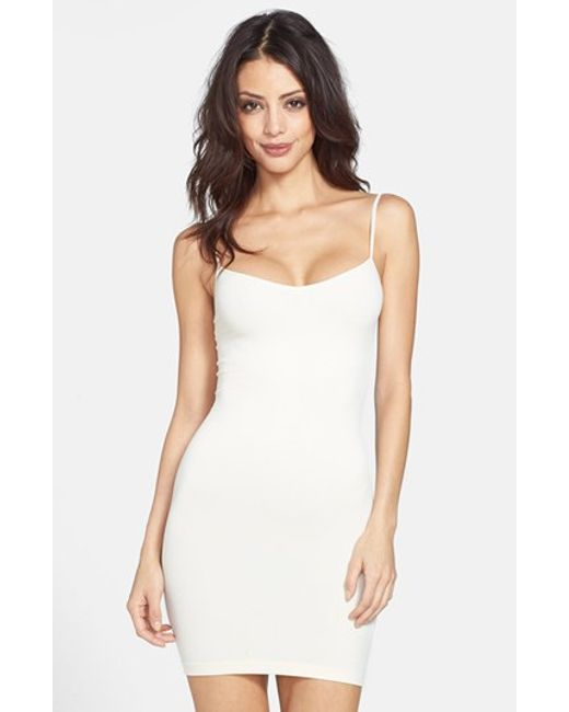 Free People | White Seamless Slip | Lyst