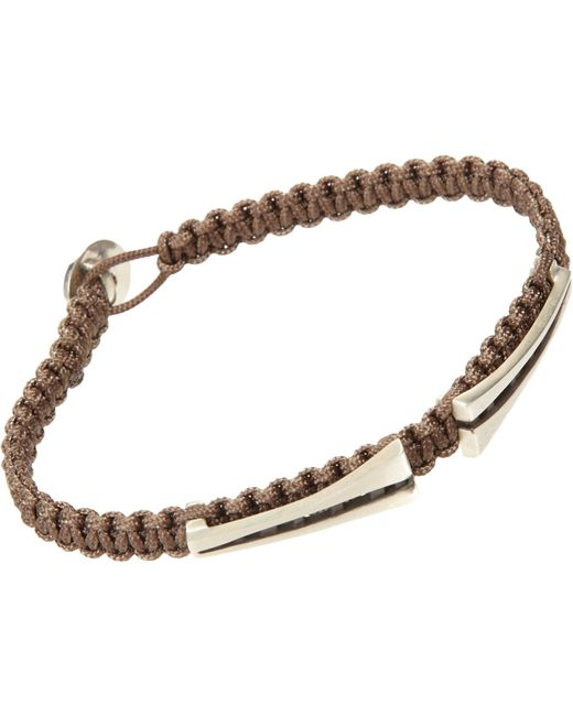 Zadeh | Brown Macramé Bracelet for Men | Lyst