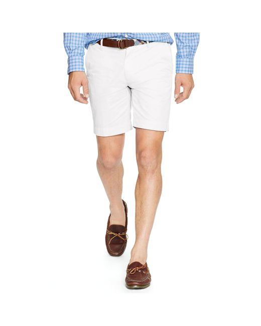 Polo Ralph Lauren | White Straight-fit Pima Chino Short for Men | Lyst