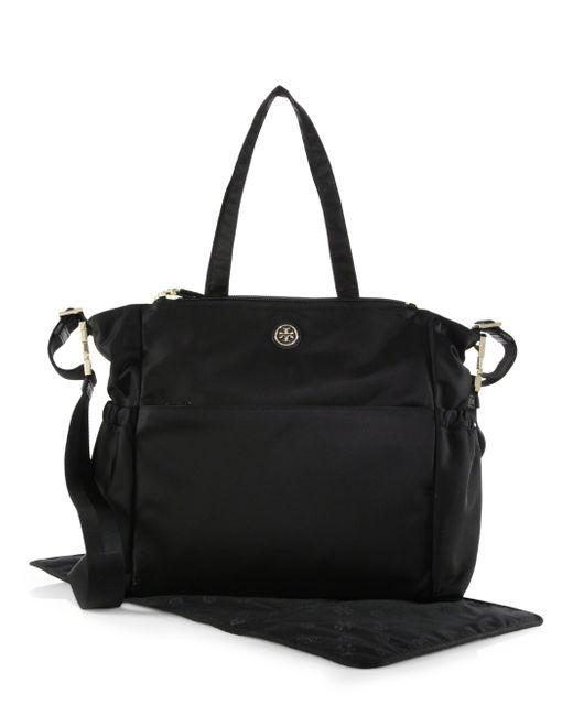 Tory Burch Travel Nylon Diaper Bag In Black Lyst