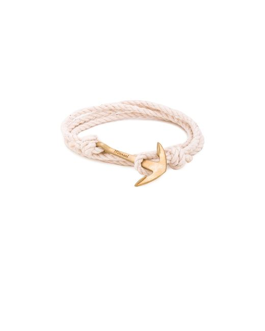Miansai | Natural Brass Anchor On Rope for Men | Lyst