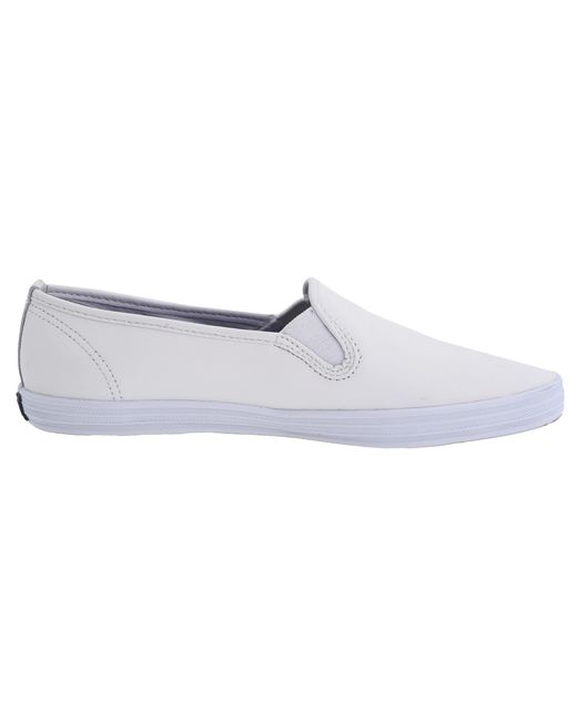 keds champion leather slip ons