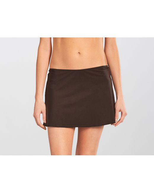 karla colletto basic a line skirt in brown lyst