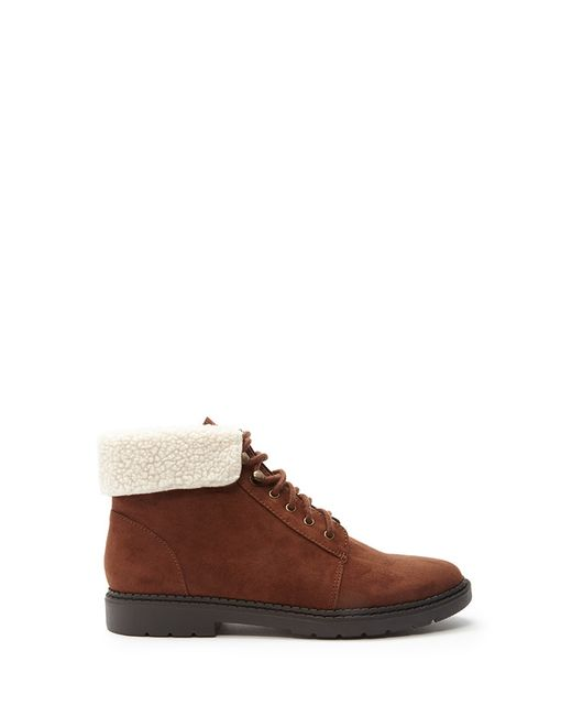 Forever 21 | Brown Faux Shearling-trimmed Boots | Lyst