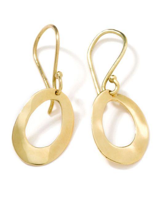 Ippolita   Metallic 18k Gold Wavy Oval Earrings   Lyst