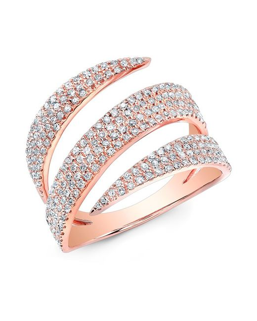 Anne Sisteron   Pink 14kt Rose Gold Diamond Bandeau Ring   Lyst