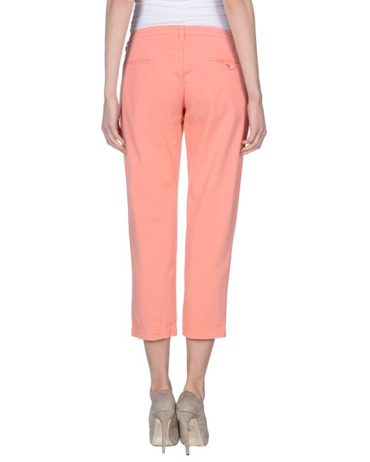 Armani Jeans | Pink Casual Trouser | Lyst
