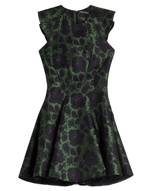 Alexander McQueen | Silk-wool Brocade Dress - Green | Lyst