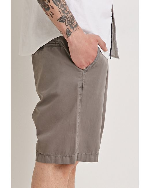 Forever 21 | Gray Cotton Drawstring Shorts for Men | Lyst