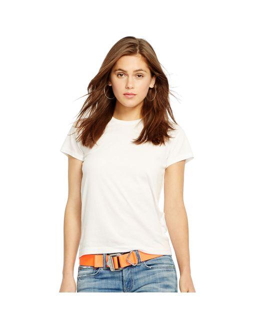 Polo Ralph Lauren | White Cotton Jersey Tee | Lyst