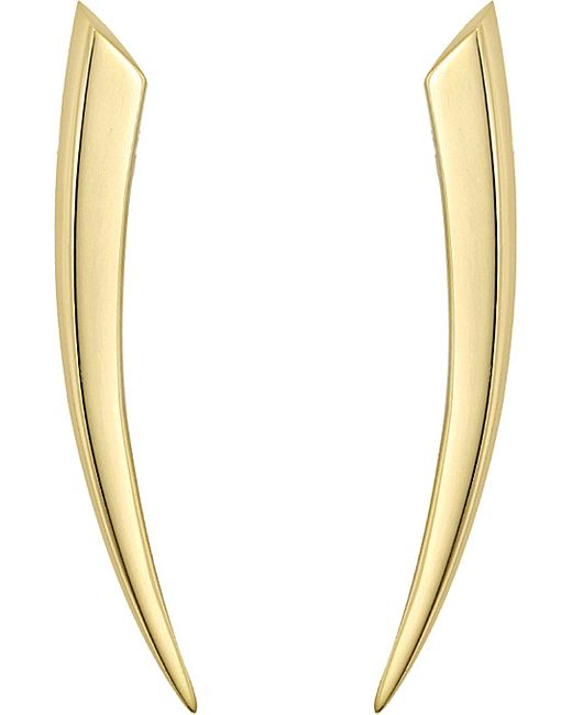 Shaun Leane | Metallic Sabre 18ct Yellow-gold Earrings | Lyst