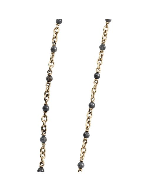Sylva & Cie | Metallic Kyonite Bead Necklace | Lyst