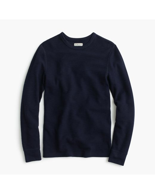 J.Crew | Black Tall Long-sleeve Thermal T-shirt for Men | Lyst