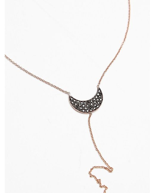 Free People | Pink Rose Gold Crescent Lariat | Lyst