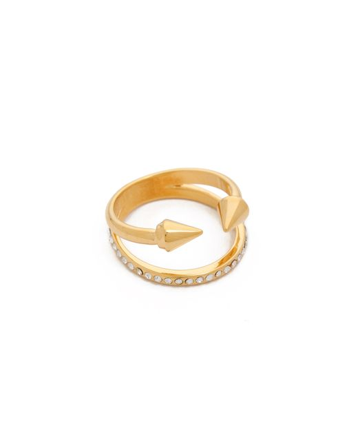 Vita Fede | Metallic Ultra Mini Titan Crystal Band Ring | Lyst