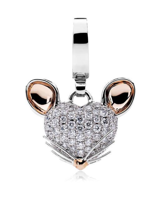 Theo Fennell | White Woodland Mouse Charm | Lyst