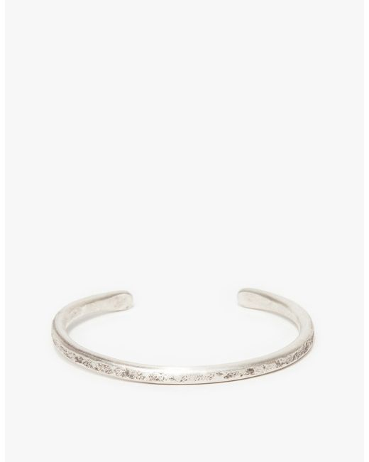 Cause and Effect | Metallic Thin Silver Bar Cuff for Men | Lyst