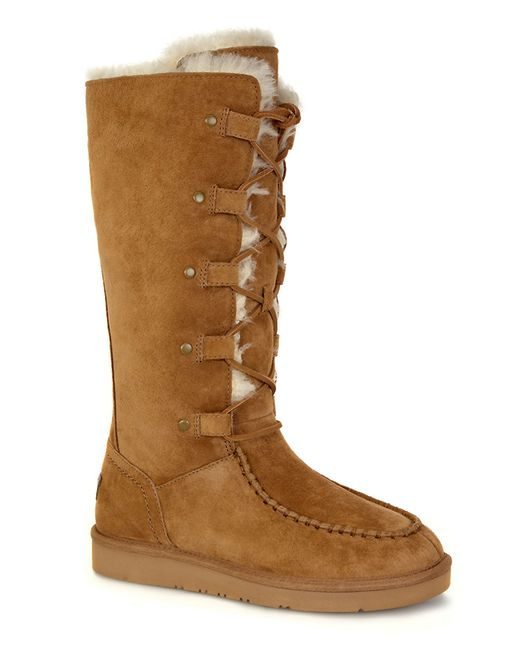 ugg appalachian shearling lined mid calf boots in beige. Black Bedroom Furniture Sets. Home Design Ideas