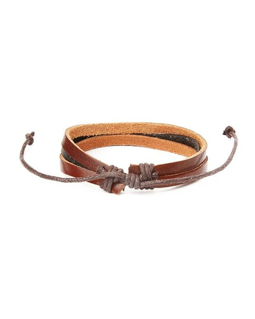 The Idle Man | Brown Leather Bracelet for Men | Lyst