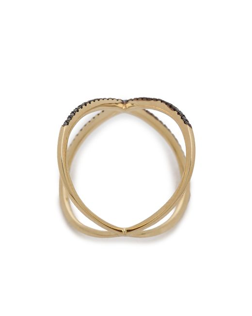 EF Collection | Yellow Diamond X Ring | Lyst