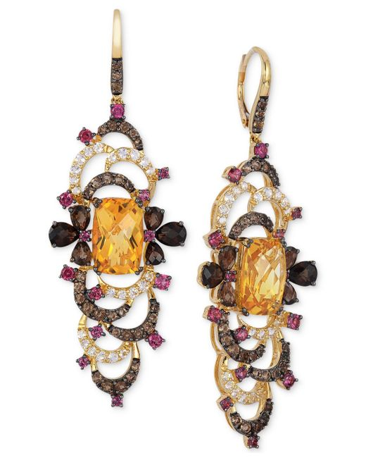 Le Vian   Multicolor ® Crazy Collection® Multi-stone Earrings (12-4/5 Ct. T.w.) In 14k Gold   Lyst