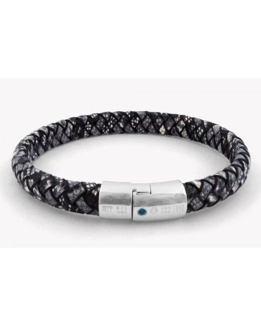 Tateossian | Gray Amazonia Cobra Silver Bracelet In Grey for Men | Lyst