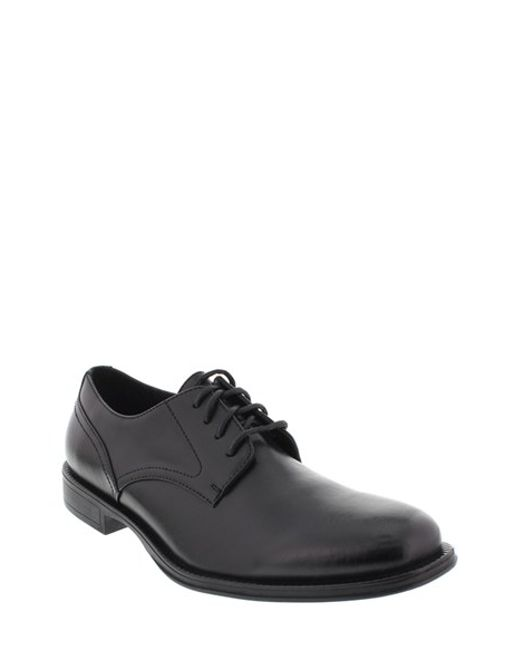 Deer Stags | Black 'method' Leather Plain Toe Derby for Men | Lyst