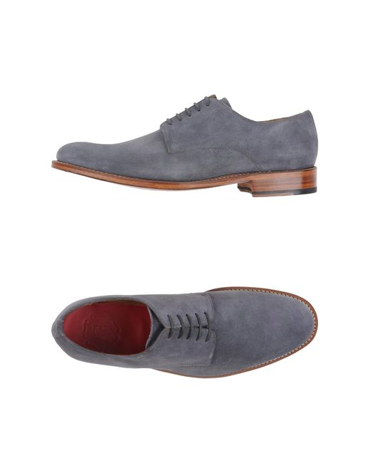 Grenson   Gray Lace-up Shoes for Men   Lyst