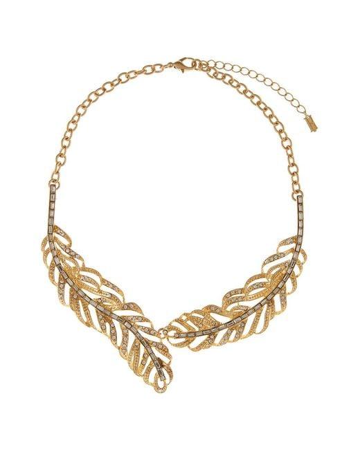 Hobbs | Metallic Feather Necklace | Lyst