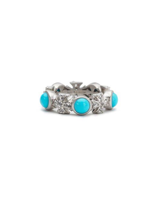 Elizabeth Showers | Blue Sapphire & Turquoise Maltese Cross Ring | Lyst