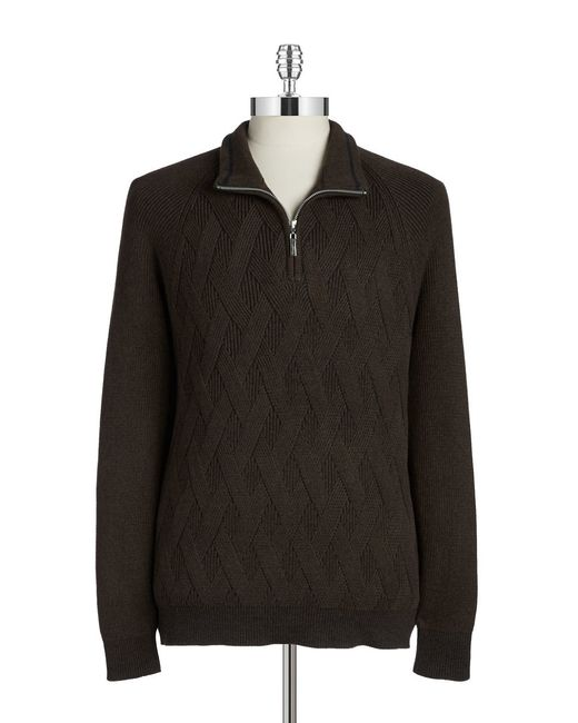 Tommy Bahama | Brown Knit Cotton Sweater | Lyst
