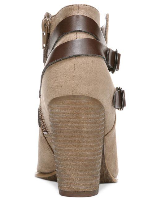 Carlos By Carlos Santana | Natural Helene Short Buckle Booties | Lyst