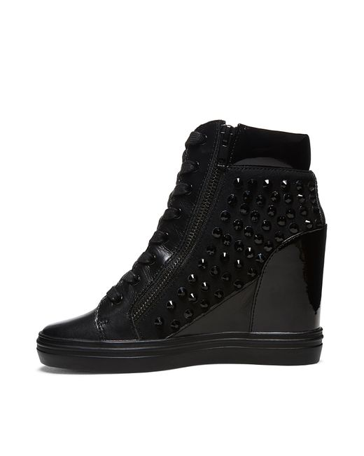 Steve Madden | Black Women's Florence Low-top Lace-up Sneakers | Lyst