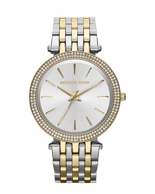 MICHAEL Michael Kors   Metallic Michael Kors 'darci' Round Bracelet Watch   Lyst