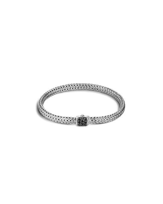 John Hardy | Metallic Classic Chain Sterling Silver Lava Extra Small Bracelet With Black Sapphire | Lyst