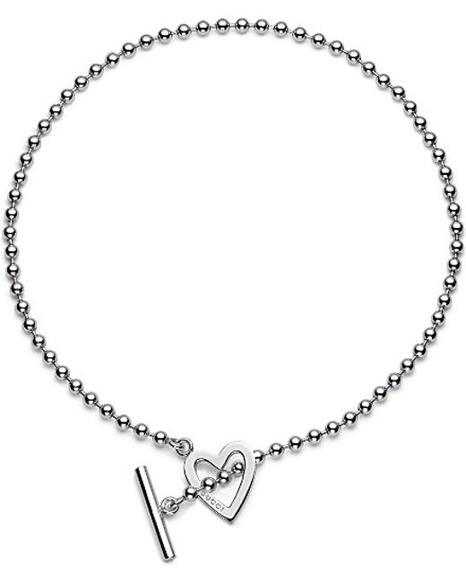 Gucci | Metallic Heart-motif Sterling Silver Necklace | Lyst