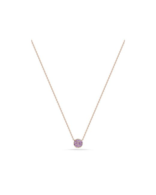 Dana Rebecca | 14k Rose Gold And Pink Sapphire Lauren Joy Mini Necklace, 16"