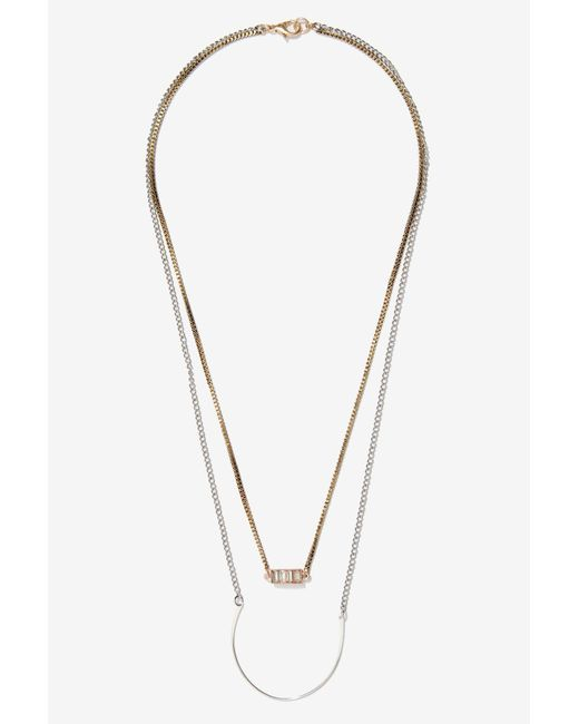 Nasty Gal | Metallic Layer Slayer Double-strand Necklace | Lyst
