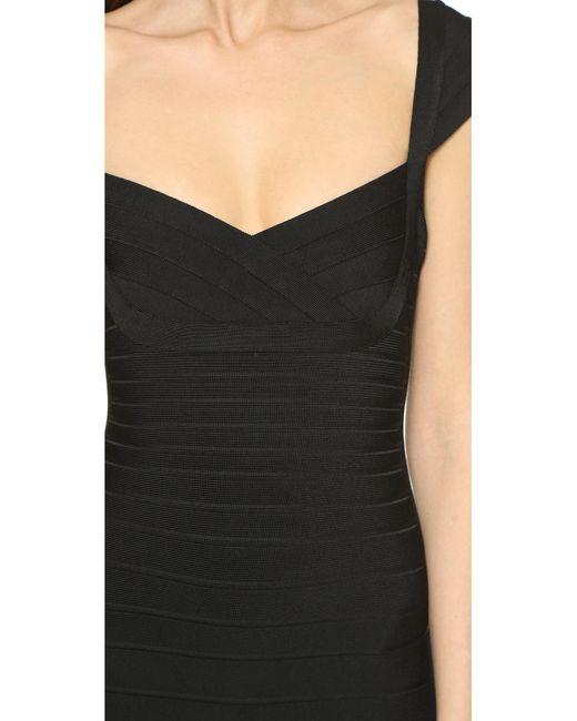 Hervé Léger   Black Zip-front Bandage Dress   Lyst