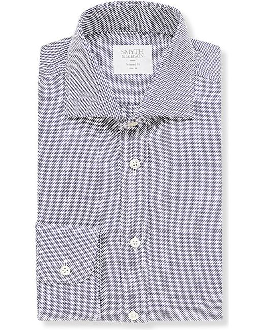 Smyth & Gibson | Blue Zigzag Tailored-fit Cotton Shirt for Men | Lyst