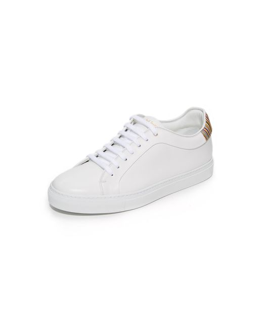 Paul Smith   White Basso Leather Sneakers for Men   Lyst